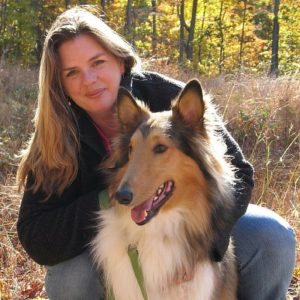 Jeni and Charlie, rough-coat collie